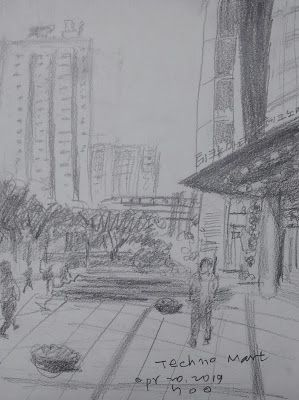 Sketches at Techno Mart, Gangbyeon Branch