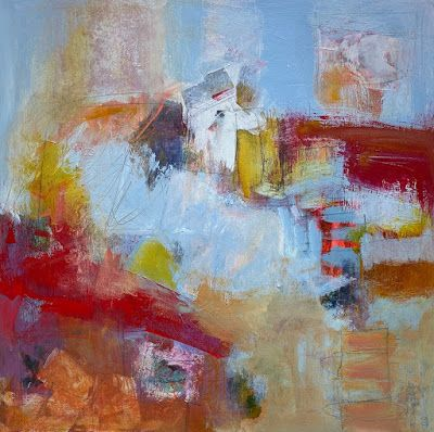 "Abstract Art, Expressionism, Contemporary Painting ""BOUNDLESS POSSIBILITIES"" by Contemporary Artist Liz Thoresen"