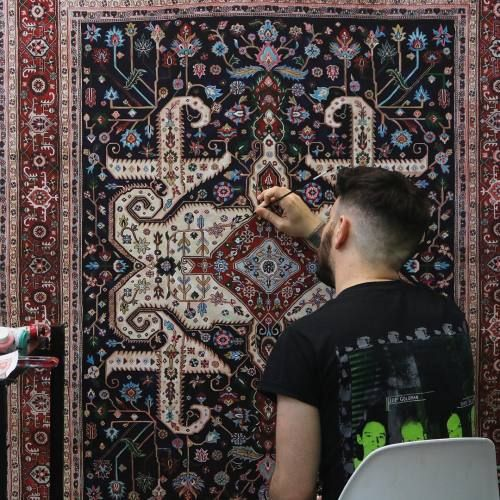 Crossconnectmag: Hand-Painted Carpets by Jason Seife Reinventing