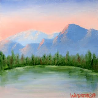 Mark Webster - Pine Mountain Lake 6x6 Oil Painting