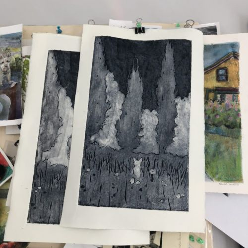 How to Ink a Collagraph Print
