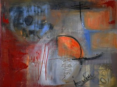 """Contemporary Painting, Abstract Art, Cold Wax, """"Establishment Reconstruction"""" by International Abstract Realism Artist Arrachme"""