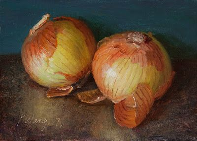 Two onions a small painting a day