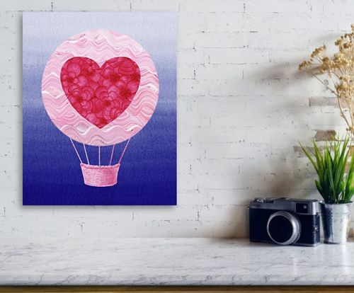 Watercolor Hot Air Balloons Collection - Love & Travel
