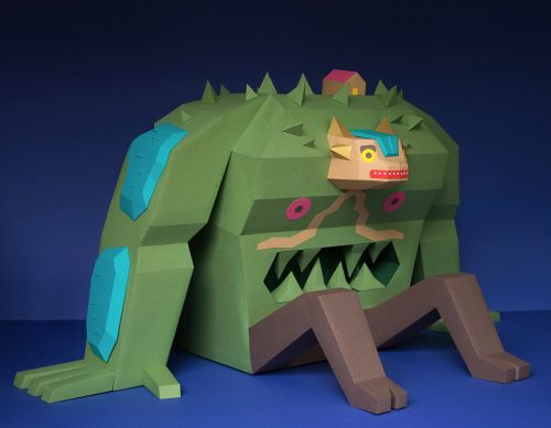 A Paper Monster Named Musgor Inhabits a Future World in 'Urban Mutations'
