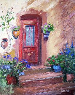 French Welcome, Contemporary Landscape Painting by Sheri Jones