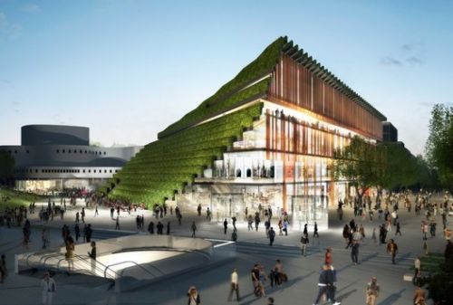 Ingenhoven Breaks Ground on Urban Mountain for Düsseldorf