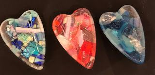 NEW WORKS IN GLASS - FOR VALENTINE'S DAY AND FOR EVER!