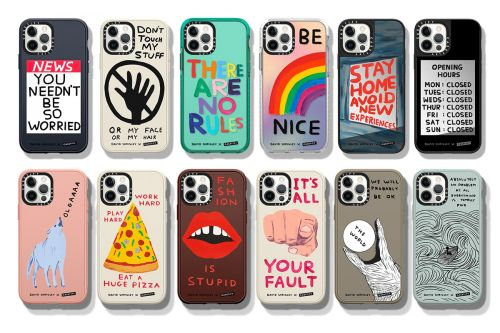 David Shrigley Designs a Collection of Phone Cases and Tech Accessories with His Signature Witty Illustrations