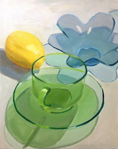Green and Blue Glass Objects