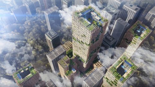 Japan Plans for Supertall Wooden Skyscraper in Tokyo by 2041