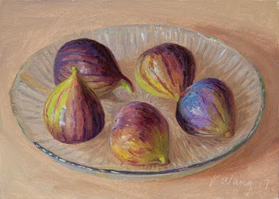 Figs daily painting still life original a painting a day small