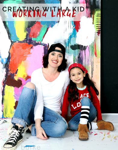 Creating with a kid- working large