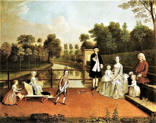 Branding in 18C England - Garden Conversation Pieces