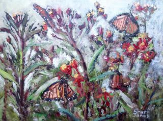 Butterfly Magnet, New Contemporary Landscape Painting by Sheri Jones