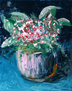 Mark Webster - Still Life Flowers Acrylic Painting