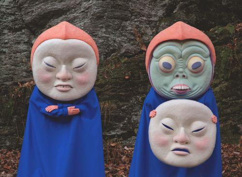 Gargantuan Felt Masks of Beautifully Disturbing Characters by Paolo Del Toro