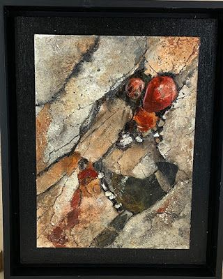 "Geologic Abstract Art, Mixed Media, Contemporary Painting, ""Geologic Study"" by Texas Contemporary Artist Sharon Whisnand"