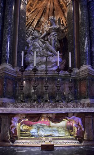 Happy All Saints Day with a the Corpus Sanctus of Saint Victoria, Rome