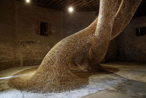 Recycled Bamboo Installations Intertwine in Site-Specific Configurations by Tanabe Chikuunsai IV