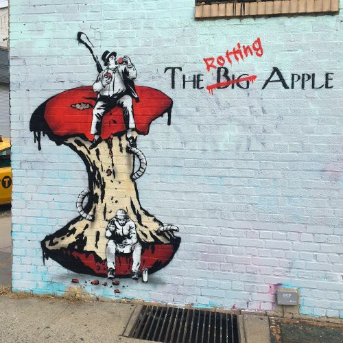 """""""The Rotting Apple"""" by The Rebel Bear in Brooklyn, New York"""