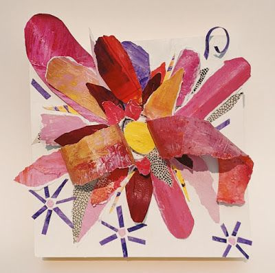 "Floral Paper Sculpture, Collage ""PAPER SCULPTURE PRETTY BANG"