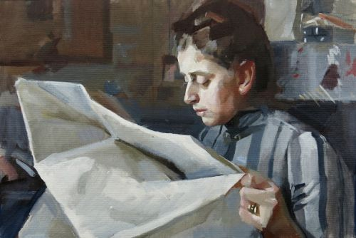 "After Anders Zorn's ""Emma Zorn Reading"""