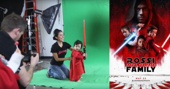 Photographer Recreates 'The Last Jedi' Posters for Family Christmas Cards