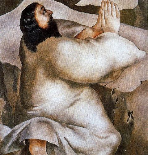 Lent - Stanley Spencer, Christ in the Wilderness He departed into a mountain to pray