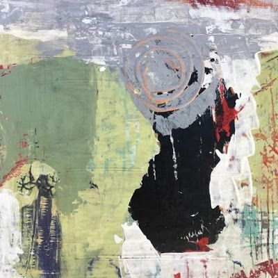 """Contemporary Art, Abstract,Expressionism, Studio 9 Fine Art """"Obscured"""" by International Abstract Artist Amanda Saint Claire"""