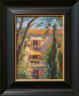 """Morning Shadows,"" Provence by Contemporary Impressionist Niki Gulley"