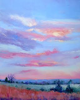 Gentle Morning Color, New Contemporary Landscape Painting by Sheri Jones