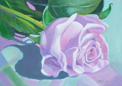Lavender Rose Oil Painting