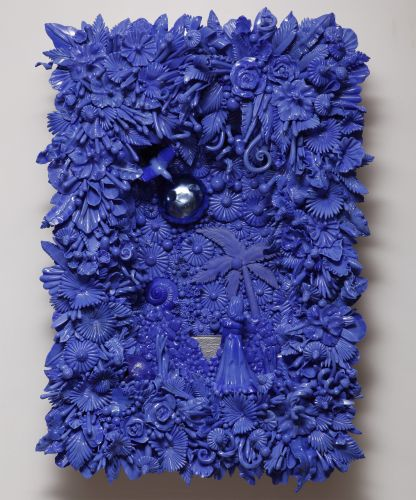 Teeming with Flourishes, Narrative Sculptures by Amber Cowan Revitalize Vintage Pressed Glass