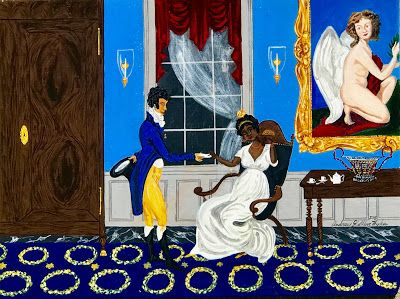 """""""A Receipt for Creole Courtship"""" by Creole Folk Artist Andrew LaMar Hopkins"""