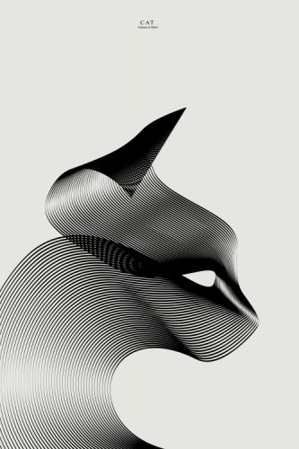Crossconnectmag: The New Third Series of Moire Pattern Animals