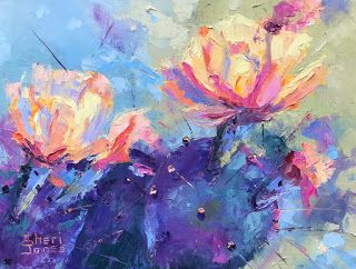 Impressionistic Floral Oil Painting by Contemporary Artist Sheri Jones