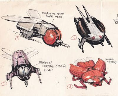 Sentient Insect Spaceships