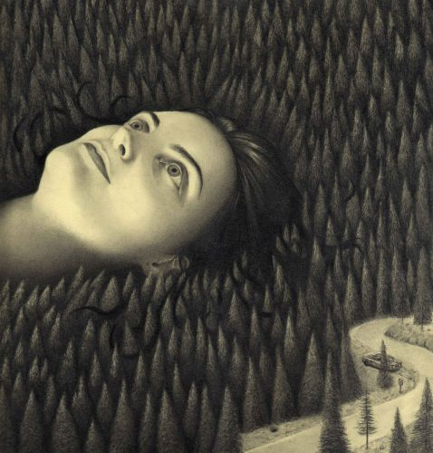 Loneliness Shrouds the Peculiar Scenes in Carlos Fdez's Graphite Drawings