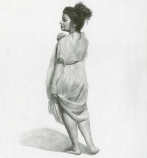 Figure Study in Graphite