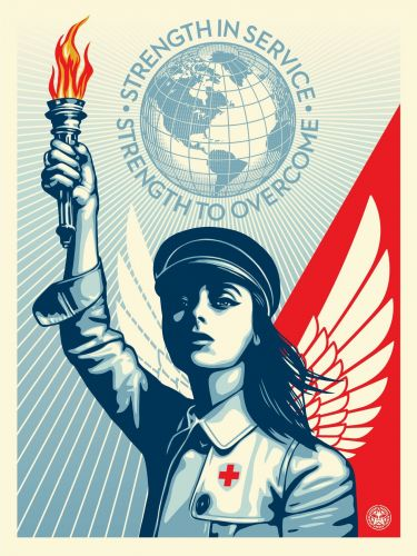 """Shepard Fairey """"Angel of Hope and Strength"""" New Print Available Today"""