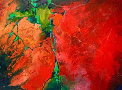 """Red Art, Abstract Art,Contemporary Painting, Fine Art Print """"Show Me"""