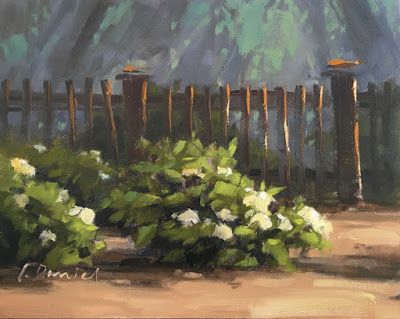 Judy's Hydrangeas - workshop demo with process shots