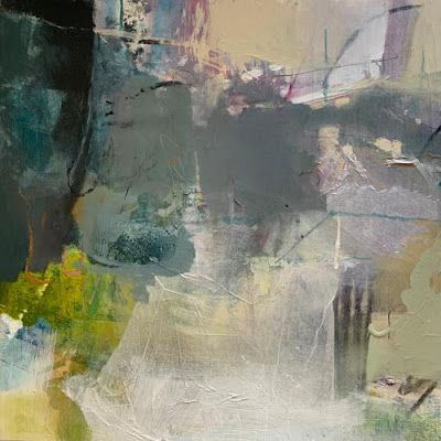 """Contemporary Painting, Abstract Art """"Tender and Elusive"""" by Intuitive Artist Joan Fullerton"""
