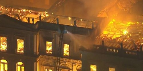 Massive Fire Destroys Brazil's 200-Year-Old National Museum and Its Collection