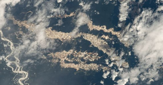 Photo from Space Reveals 'Gold Rivers' Slicing Through the Amazon