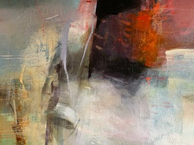 """Contemporary Art, Abstract Landscape Painting, Fine Art For Sale """"The Birth of Wind"""" by Intuitive Artist Joan Fullerton"""