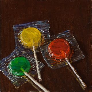 Lollipop candy daily painting small painting a day