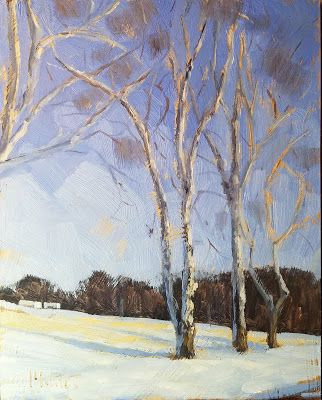 Winter Landscape 8x10 Original Oil Painting 25% off all Art