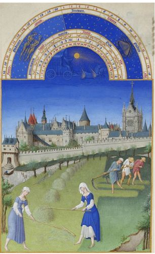 June from the Book of Hours of the Duke of Berry